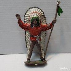Figuras de Goma y PVC: JEFE INDIO COMANSI EN BUEN ESTADO . Lote 190463380