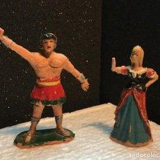 Figuras de Goma y PVC: EL JABATO Y DAMA. Lote 190499531