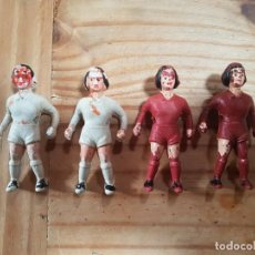 Figuras de Goma y PVC: LOTE 4 FIGURAS FUTBOLIN ANTIGUO VER FOTOS. Lote 190515166