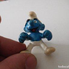 Figuras de Goma y PVC: PITUFO CONDUCTOR? W.GERMANY AÑO 1981. Lote 190540636
