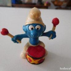 Figuras de Goma y PVC: PITUFO CON TAMBOR SPAIN EURA SIN FECHA. Lote 190540827
