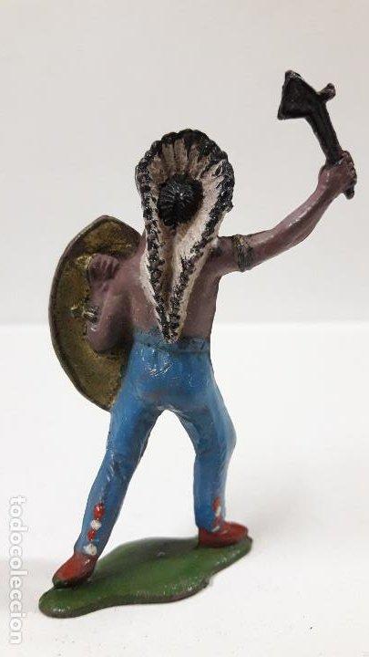 Figuras de Goma y PVC: JEFE INDIO . REALIZADO POR TEIXIDO . AÑOS 50 EN GOMA - Foto 2 - 190581107
