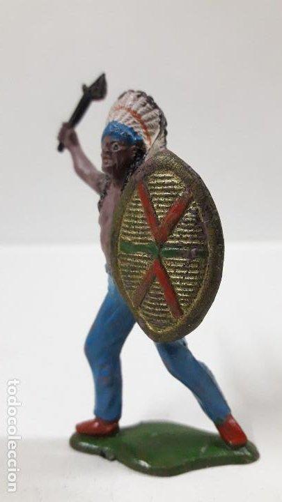 Figuras de Goma y PVC: JEFE INDIO . REALIZADO POR TEIXIDO . AÑOS 50 EN GOMA - Foto 3 - 190581107