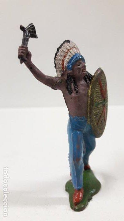 Figuras de Goma y PVC: JEFE INDIO . REALIZADO POR TEIXIDO . AÑOS 50 EN GOMA - Foto 4 - 190581107