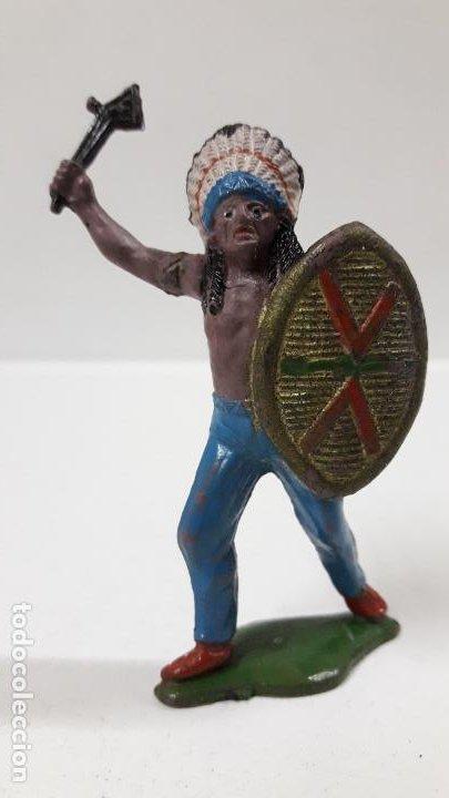 JEFE INDIO . REALIZADO POR TEIXIDO . AÑOS 50 EN GOMA (Juguetes - Figuras de Goma y Pvc - Teixido)