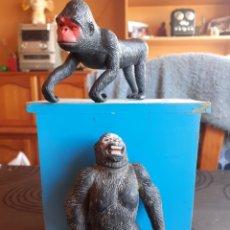 Figuras de Goma y PVC: FIGURA GORILA Y MONO TIPO KING KONG O PLANETA DE LOS SIMIOS SON DUROS. Lote 190585768