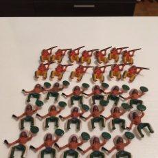 Figuras de Goma y PVC: LOTE DE 30 INDIOS SOTORRES. Lote 190633708