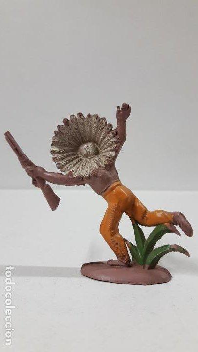 Figuras de Goma y PVC: JEFE INDIO . REALIZADO POR PECH . SERIE PEQUEÑA . AÑOS 50 EN GOMA - Foto 2 - 190701696