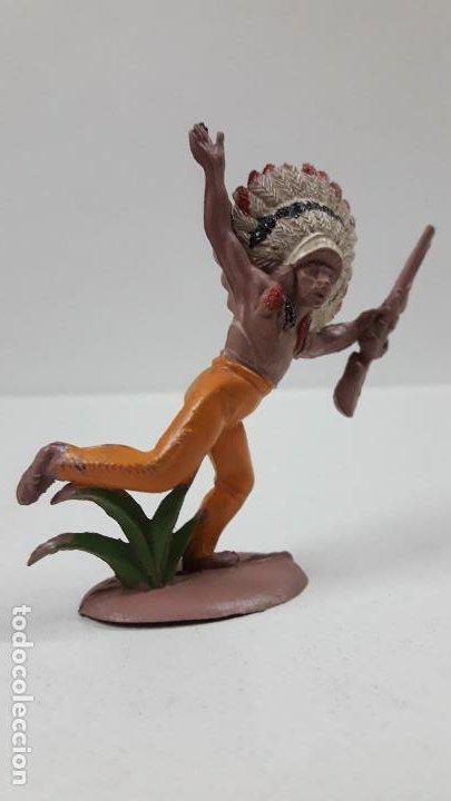 Figuras de Goma y PVC: JEFE INDIO . REALIZADO POR PECH . SERIE PEQUEÑA . AÑOS 50 EN GOMA - Foto 4 - 190701696