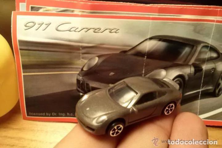 COCHE PORSCHE 911 CARRERA KINDER FT NUEVO+BPZ DIFICIL PARA COLECCIÓN!!!! (Juguetes - Figuras de Gomas y Pvc - Kinder)