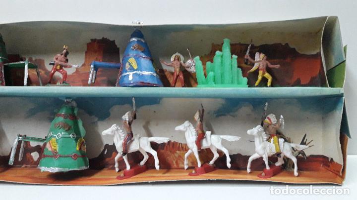 Figuras de Goma y PVC: CAJA ORIGINAL DE MINI OESTE . INDIOS - REF 105 . REALIZADA POR COMANSI . AÑOS 60 - Foto 6 - 190736555