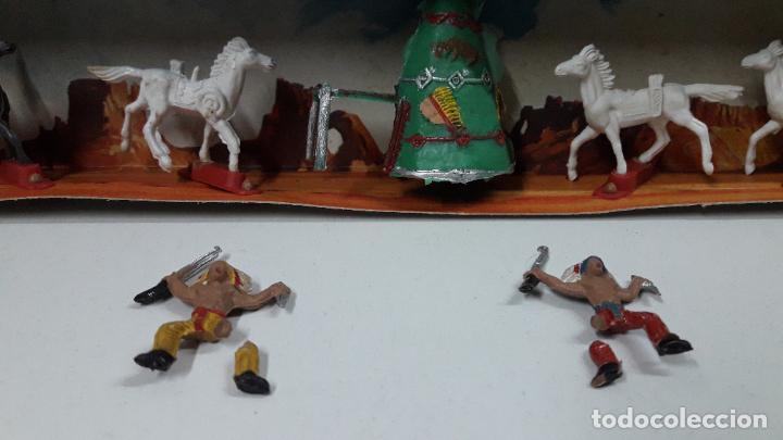 Figuras de Goma y PVC: CAJA ORIGINAL DE MINI OESTE . INDIOS - REF 105 . REALIZADA POR COMANSI . AÑOS 60 - Foto 8 - 190736555