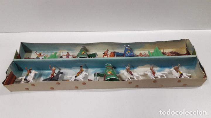 Figuras de Goma y PVC: CAJA ORIGINAL DE MINI OESTE . INDIOS - REF 105 . REALIZADA POR COMANSI . AÑOS 60 - Foto 11 - 190736555