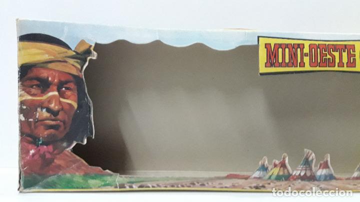 Figuras de Goma y PVC: CAJA ORIGINAL DE MINI OESTE . INDIOS - REF 105 . REALIZADA POR COMANSI . AÑOS 60 - Foto 14 - 190736555