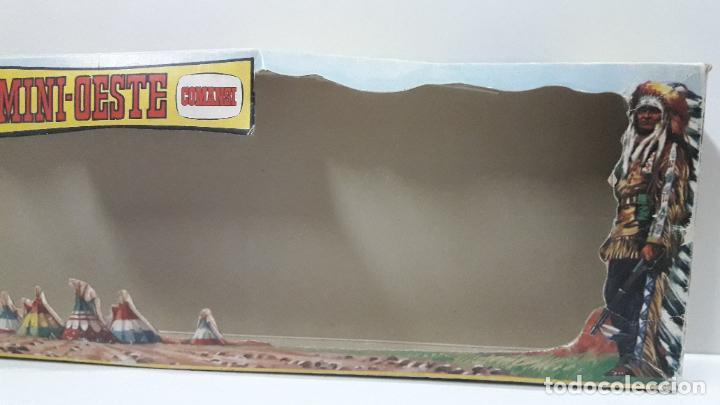 Figuras de Goma y PVC: CAJA ORIGINAL DE MINI OESTE . INDIOS - REF 105 . REALIZADA POR COMANSI . AÑOS 60 - Foto 15 - 190736555