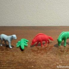 Figuras de Goma y PVC: LOTE DE 4 FIGURAS DE ANIMALES DUNKIN - VER FOTOS. Lote 190853651