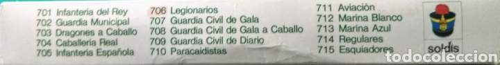 Figuras de Goma y PVC: 13 Soldados en caja. Soldis de Gomarsa. Años 70. - Foto 4 - 190869217