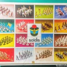 Figuras de Goma y PVC: 13 SOLDADOS EN CAJA. SOLDIS DE GOMARSA. AÑOS 70.. Lote 190869217