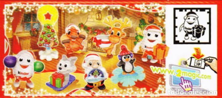 COLECCIÒN COMPLETA KINDER NAVIDAD 2013 FT + 8 BPZ NUEVOS! INCLUYE KINDERINOS+PINGÜINO MUY DIFÍCILES! (Juguetes - Figuras de Gomas y Pvc - Kinder)