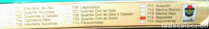 Figuras de Goma y PVC: 13 Soldados en caja. Soldis de Gomarsa. Años 70. - Foto 3 - 190878248