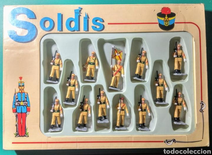 13 SOLDADOS EN CAJA. SOLDIS DE GOMARSA. AÑOS 70. (Juguetes - Figuras de Goma y Pvc - Reamsa y Gomarsa)
