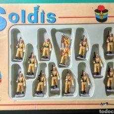 Figuras de Goma y PVC: 13 SOLDADOS EN CAJA. SOLDIS DE GOMARSA. AÑOS 70.. Lote 190878248