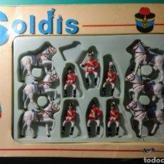 Figuras de Goma y PVC: 6 SOLDADOS Y 6 CABALLOS. SOLDIS DE GOMARSA. AÑOS 70.. Lote 190880045