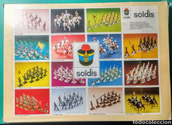 Figuras de Goma y PVC: 6 Soldados y 6 caballos. Soldis de Gomarsa. Años 70. - Foto 2 - 190880045