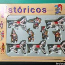 Figuras de Goma y PVC: 5 SOLDADOS Y 5 CABALLOS. HISTÓRICOS. GOMARSA. NUEVOS.. Lote 190882017