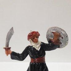 Figuras de Goma y PVC: GUERRERO MORO - SARRACENO CON ESPADA . REALIZADO POR JECSAN . SERIE BEN YUSUF . ORIGINAL AÑOS 60. Lote 190981850
