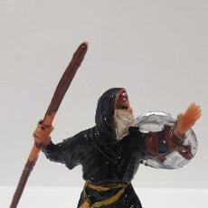 Figuras de Goma y PVC: GUERRERO MORO - SARRACENO CON LANZA . REALIZADO POR JECSAN . SERIE BEN YUSUF . ORIGINAL AÑOS 60. Lote 190981943