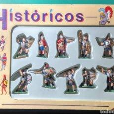 Figuras de Goma y PVC: 10 SOLDADOS. HISTÓRICOS DE GOMARSA. NUEVOS.. Lote 191002888