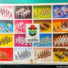Figuras de Goma y PVC: 13 SOLDADOS EN CAJA. SOLDIS DE GOMARSA. AÑOS 70.. Lote 191007381