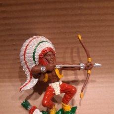Figuras de Goma y PVC: LAFREDO. JEFE INDIO. SERIE GRANDE. Lote 191011330