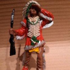 Figuras de Borracha e PVC: LAFREDO. JEFE INDIO. SERIE GRANDE. Lote 191011657