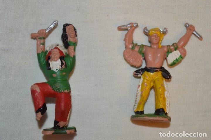 Figuras de Goma y PVC: Lote de 2 indios / hechiceros de REAMSA / Ref. 68 y 70 - MADE IN SPAIN - REAMSA - VINTAGE - ¡Mira! - Foto 2 - 191144608