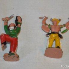 Figuras de Goma y PVC: LOTE DE 2 INDIOS / HECHICEROS DE REAMSA / REF. 68 Y 70 - MADE IN SPAIN - REAMSA - VINTAGE - ¡MIRA!. Lote 191144608