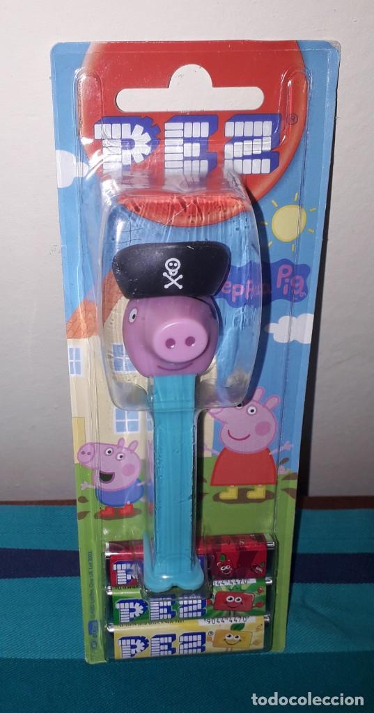 DISPENSADOR CARAMELOS PEZ PEPA PIG GEORGE PIRATE (Juguetes - Figuras de Gomas y Pvc - Dispensador Pez)