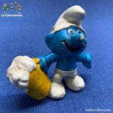 Figuras de Goma y PVC: PITUFO CON JARRA DE CERVEZA - SIN MARCA. Lote 191191096