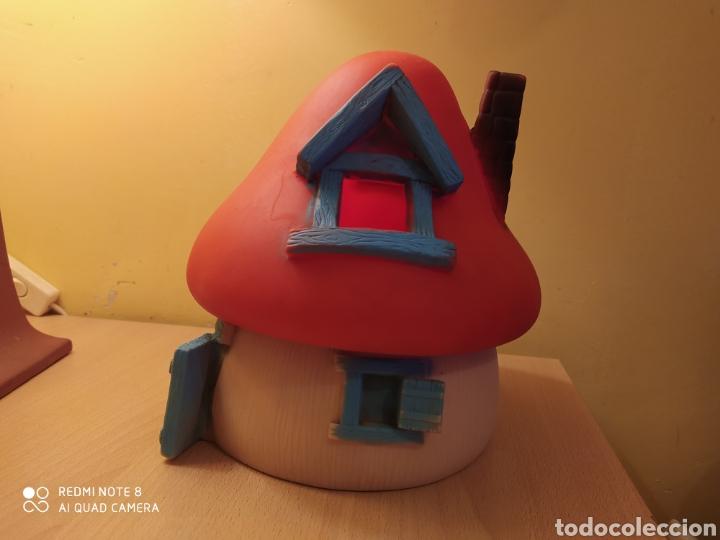 Figuras de Goma y PVC: Casa Seta Aldea Pitufos de Goma, latex fabricado por Farmi, años 70/80 Nueva Pitufina Pitufo - Foto 2 - 191282652
