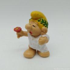 Figuras de Goma y PVC: MUY DIFÍCIL PITUFO ROMANO CÉSAR - SMURF ROMMER GNOME - BOOTLEG. Lote 191313508