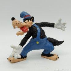 Figuras de Goma y PVC: EL LOBO FEROZ DE LOS TRES CERDITOS Y EL LOBO FEROZ DE DISNEY. Lote 191315840