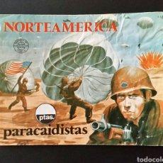 Figuras de Goma y PVC: SOBRE VACÍO MONTAPLEX 112 NORTEAMERICA PARACAIDISTAS. Lote 191371517
