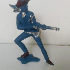 Figuras de Goma y PVC: ANTIGUO VAQUERO LARGO GRANDE ESTILIZADO DEL OESTE - PIPERO LAFREDO - AÑOS 60 - EN SU BOLSA ORIGINAL . Lote 191408286