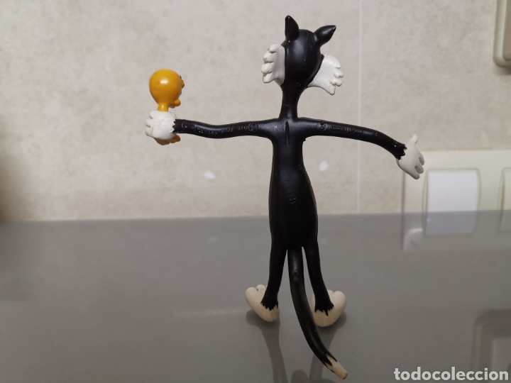 Figuras de Goma y PVC: ANTIGUA FIGURA PIOLÍN Y SILVESTRE FLEXIBLE 13,5cm 1988 CÓMICS SPAIN WARNER BROS - Foto 3 - 191437427