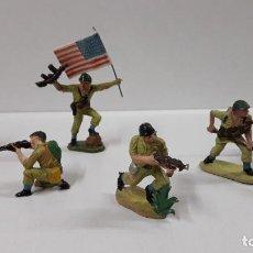 Figuras de Goma y PVC: SOLDADOS AMERICANOS . REALIZADOS POR PECH . AÑOS 60. Lote 191452372