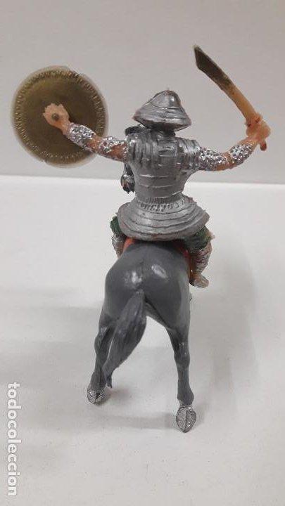 Figuras de Goma y PVC: SAMURAI A CABALLO - ESCUDO DESMONTABLE . REALIZADO ESTEREOPLAST . SERIE EL JABATO . ORIGINAL AÑOS 60 - Foto 4 - 191568461