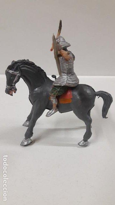 Figuras de Goma y PVC: SAMURAI A CABALLO - ESCUDO DESMONTABLE . REALIZADO ESTEREOPLAST . SERIE EL JABATO . ORIGINAL AÑOS 60 - Foto 5 - 191568461