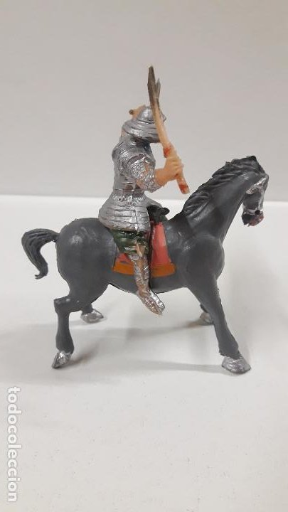 Figuras de Goma y PVC: SAMURAI A CABALLO - ESCUDO DESMONTABLE . REALIZADO ESTEREOPLAST . SERIE EL JABATO . ORIGINAL AÑOS 60 - Foto 6 - 191568461