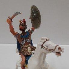 Figuras de Goma y PVC: EGIPCIO A CABALLO - ESCUDO DESMONTABLE . REALIZADO ESTEREOPLAST . SERIE EL JABATO . ORIGINAL AÑOS 60. Lote 191568672